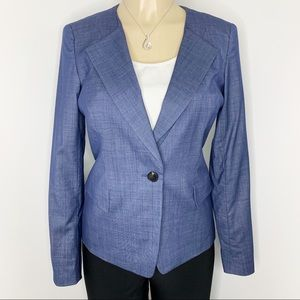 LAFAYETTE 148 New York Blue Wool Blend Blazer Sz 2